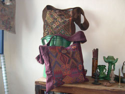 Suede and cloth bags