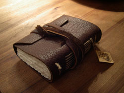 Leather covering book
